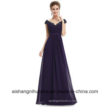 Длинные Платья Невесты V Шеи Шифоновое Сексуальное Вечернее Платье