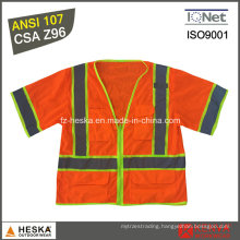 Hi Vis Waistcoat 3m Reflective Safety Vest