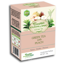 Peach Flavored Green Tea Pyramid Tea Bag Premium Blends Organic & EU Compliant (FTB1507)