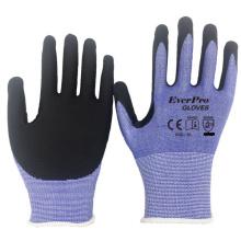 Anti Cut Level 5 Flexfit 15G HPPE Liner Nitrile Oil Proof Cut Resistant Gloves