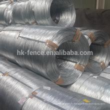 Usine directe vente chaude haute résistance galvanisé fil, 9 jauge standard galvanisé à chaud fil de la Chine alibaba