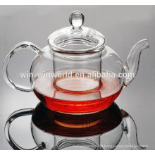 Promotional 800ml Antique Daily Use Clear Pyrex Glass Grace Tea Ware