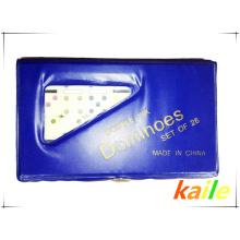 Doppel sechs kleine Domino mit PVC-Box