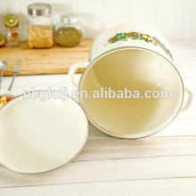 Китайская эмалированная посуда оптом печатных эмали высокую кастрюлю