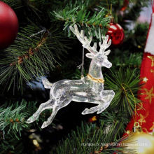 Glitter en plastique Décor de cerf de Noël