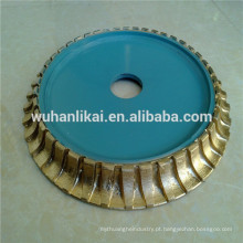 Roda de perfil de diamante cheio sinterizado Bullnose