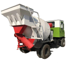 Made in china mortar material stirring truck automatic loading concrete tank mixer truck
