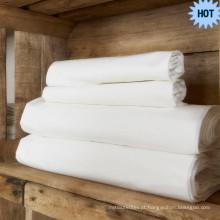 Atacado Branco liso TC200 100% tecido de algodão em embalagem de rolo