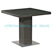 Wicker Furniture Modern Design Square Rattan Table