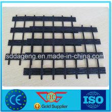 Uniaxial / Biaxial PVC / Bitumen Revêtue Polyester Geogrid