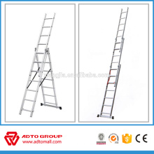 EN131 aluminum extension ladder,3 section extension ladders,aluminum foldable ladder