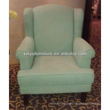Macaron color fabric wooden sofa chair XY2501