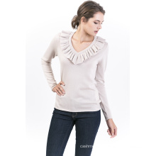 Women′s Lotus Leaf Pullover