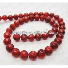 Red ágata redondo grânulos / 4mm / 6mm / 8mm / 10 / mm / 12mm grau A