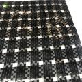 Hdpe woven fabric black transparent grid film