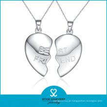 Moda Amizade 925 Pingente Coração Prata Atacado (SH-N0260)
