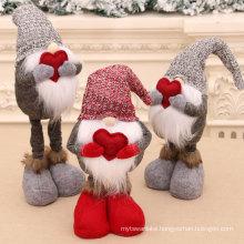 New Christmas retractable doll Santa snowman doll Christmas gift Christmas Faceless Old Man doll