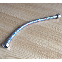 Tuyau tressé en acier inoxydable tuyau flexible d'eau de toilette