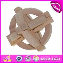 Nouveau et populaire jouet d'intelligence en bois pour enfants, jouet en bois Toy Intelligence pour enfants, jouet en bois Iq pour bébé W03b018