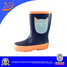 Dark Blue Lovely Cat Kids Rain Boots Kr041