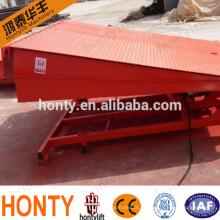 регулируемый гидравлический стационарный погрузочно-разгрузочный перегрузочный причал, грузовой лифт, погрузочная рампа для грузового контейнера и вилочного погрузчика