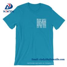 Camiseta de encargo del algodón de la alta calidad del precio al por mayor de la fábrica para el hombre