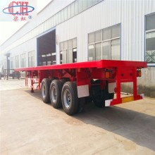3Axles Container Flat Bed نصف مقطورة
