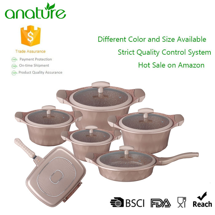 Diamond Die Cast Non Stick Coated Cookware Set