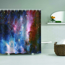 Galaxy waterdicht douchegordijn sterrenhemel Dromerige badkamer Decor