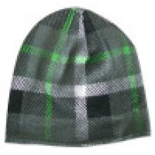 Трикотажная шапочка с дизайном чеков NTD60