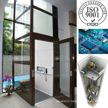 Passenger Lift Home Elevator with Good Quality Glass Sightseeing