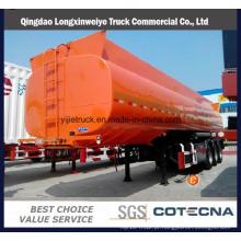 Capacidade de tanque de 4 eixos 55000L a 72000L semi-reboque de tanque de combustível de aço