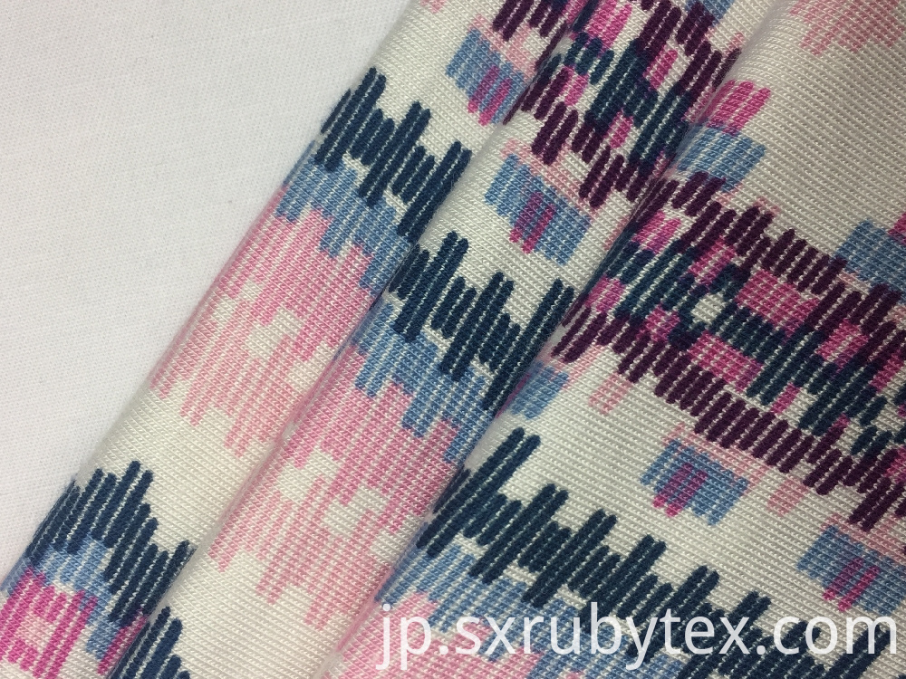 Rayon Spandex Single Jersey Print Fabric