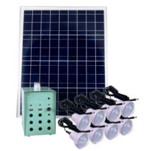 Sistema de iluminación de energía solar para el hogar