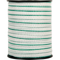 PE white/green electric fence polytape 4cm for farm