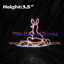 3.5inch Height Wholesale Crystal Rabbit Crowns