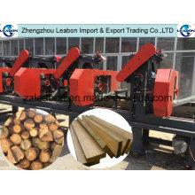 Machine horizontale de sciage de bande en bois de têtes multiples de traitement de bois dur