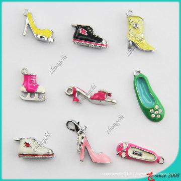 Styles mélangés Metal émail 3D Shoes Charm (SPE)