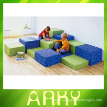Indoor Soft Square Sits Stool For Kids