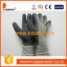 Guantes de algodón con revestimiento de látex y espuma Dkl418