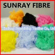 Fibra de fibra de viscosa de color