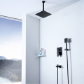 Wall Mounted Hot Cold Black Shower Faucet