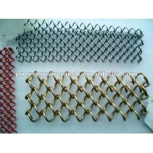 Clôture de maillage en chaîne galvanisée et en PVC
