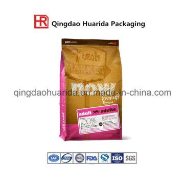 Bolsa para envasado de alimentos para mascotas de alta resistencia con refuerzo lateral y cremallera