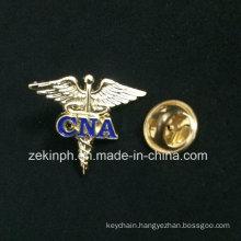 Custom Logo Wing Metal Pin Badge