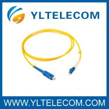 Cabo de remendo de fibra óptica frente e verso personalizado 2.0mm LSZH do SC / LC da manutenção programada