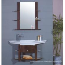 Gabinete de baño de madera maciza (B-187)