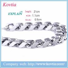 christmas 2015 men bracelet metal blanks jewelry magnetic clasp bracelet