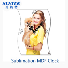 Blank Sublimation MDF Clock for Heat Transfer Printing