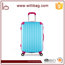 Color Blocking Youth Travel Trolley Maleta Colorful ABS Equipaje